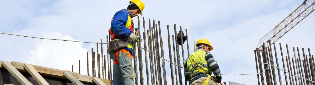 Deux ouvriers Bâtiments Travaux Publics
